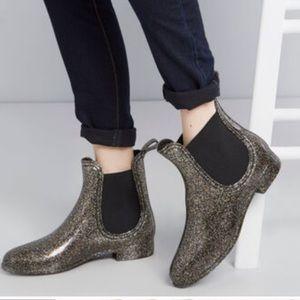 ‼️SALE‼️Report Slicker Chelsea Rain Boots SHIMMER